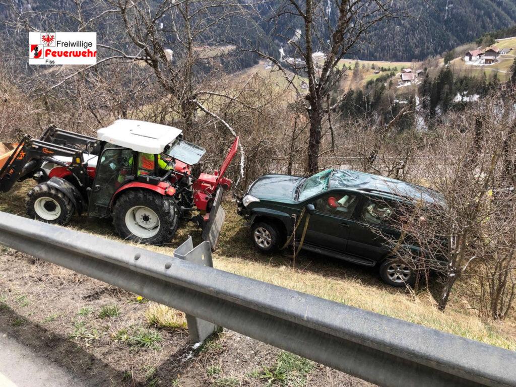 Verkehrsunfall Telfes zwischen Kehre 2 und 3