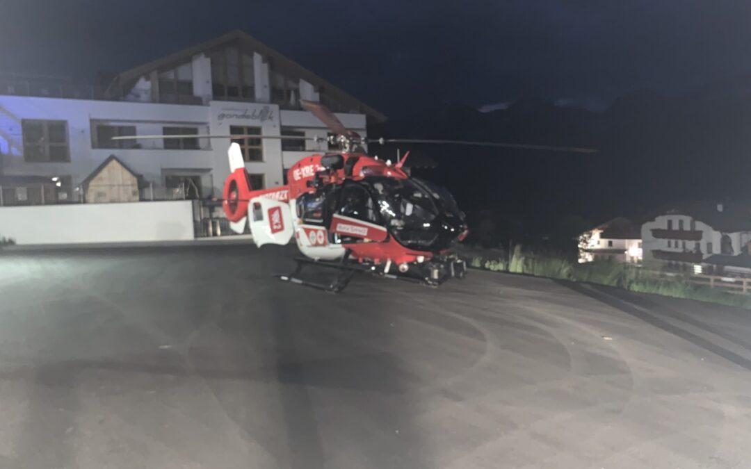 Einsatz 11/21: Hilfeleistung – Ausleuchten Landeplatz Rettungshubschrauber