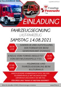 Einladung Fahrzeugsegnung